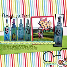 Disney scrapbook  Great for Disney music love the page