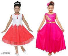 Checkout this latest Frocks & Dresses Product Name: *Alluring Kid's Girl's Frocks Combo* Sleeve Length: Sleeveless Multipack: Pack Of 2 Sizes: 1-2 Years, 2-3 Years, 3-4 Years, 4-5 Years, 5-6 Years, 6-7 Years, 7-8 Years, 8-9 Years, 9-10 Years, 10-11 Years Country of Origin: India Easy Returns Available In Case Of Any Issue   Catalog Rating: ★4.1 (8469)  Catalog Name: Free Gift Cutepie Alluring Kid's Girl's Frocks Combo Vol 5 CatalogID_424619 C62-SC1141 Code: 274-3097682-2511
