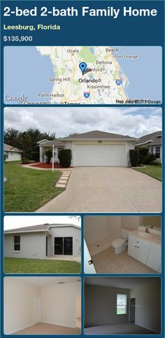 2-bed 2-bath Family Home in Leesburg, Florida ►$135,900 #PropertyForSale #RealEstate #Florida http://florida-magic.com/properties/23596-family-home-for-sale-in-leesburg-florida-with-2-bedroom-2-bathroom