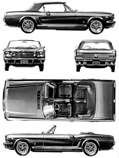 1966 Ford mustang blueprint #2