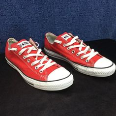 CONVERSE ALL STAR red AS OX .. w11 m9 Minimal wear....no noticeable issues Converse Shoes
