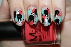 Spray Painted nail art by Polish You Pretty! Click the photo to see the full tutorial!