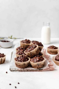 Skinny Double Chocolate Peanut Butter Banana Muffins - gluten-free, low calorie, low fat, healthy, and delicious! Gluten Free Chocolate, Healthy Chocolate, Chocolate Desserts, Vegan Desserts, Dessert Recipes, Chocolate Decorations, Plated Desserts, Dessert Ideas, Chocolate Banana Muffins