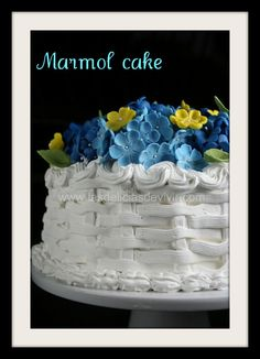 Marmol Cake y decoración en forma de canasta