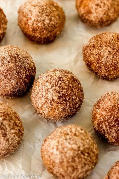 A quick, #easy recipe for #baked pumpkin spice donut holes. Full of pumpkin spice flavor and rolled in cinnamon sugar, this is your go-to breakfast treat for the fall season! You won't believe how easy they are to make and how quickly they bake! #pumpkinrecipes #fallrecipes #donutholes #bakeddonutholes #pumpkinspice #cinnamonsugar #easyrecipe #baked