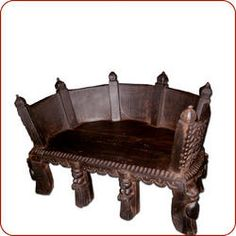 Indo-Asian furniture, Eastern furniture, mogul furniture, and more. Moroccan Furniture, Asian Furniture, Asian Decor, Chesterfield Chair, Home Goods, Accent Chairs, Stool, Carving