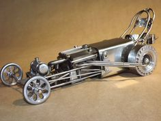 1 escultura de Drag racer Mooneyes Dragster construir impresionante Made in USA