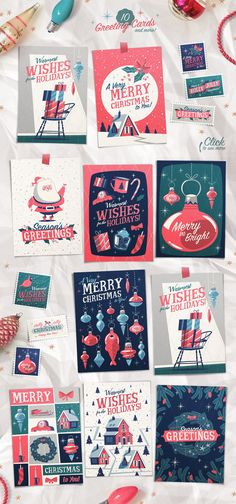 Holly Jolly Christmas Vector Pack by Darumo Shop on @creativemarket