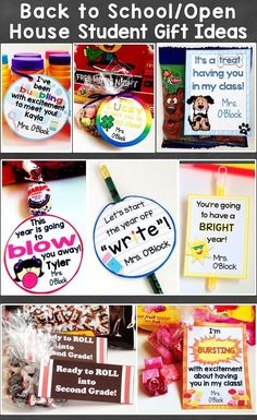 Back to School Student Gift Tags Open House Meet the Teacher Gift Tags Editable Use this set of cute and colorful student gift tags to easily create memorable… Back To School Night, 1st Day Of School, Beginning Of The School Year, Back To School Ideas For Teachers, Welcome Back To School, Primary School, Pre School, School Days, Middle School