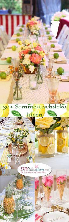 Sommertischdeko selber machen. 30+ DIY Dekoideen für deine nächste Party