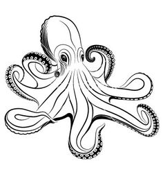 Image result for Octopus Silhouette | Octopus love ...