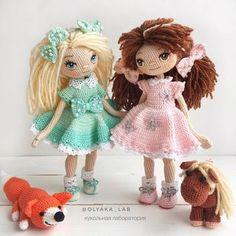 """1,472 Likes, 45 Comments - Кукольная лаборатория❤Оля_ка © (@olyaka_lab) on Instagram: """"Куколки Алиса и Даша вместе ♂️ и милые питомцы Смотрите какой взгляд у лошадки явно…"""""""