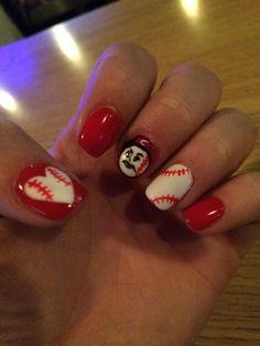 Cincinnati Reds Inspired Nails Pinterest