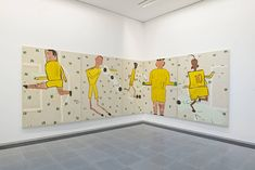 Pictures and details of Rose Wylie: Quack Quack at Serpentine Sackler Gallery, London, November 2017 – February 2018 – Contemporary art with installation views Cool Paintings, Painting Prints, Rose Wylie, Quack Quack, Garden Of Earthly Delights, Royal College Of Art, Art For Art Sake, New Artists, Figure Painting