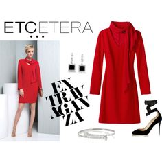 Etcetera | Holiday 2015: Red hot CABARET dress for the Holidays. www.etcetera.com.