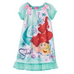 "Disney Little Girls' Ariel and Flounder ""Make a Splash"" Nightgown - a deal store Little Girl Outfits, Little Girl Fashion, Toddler Girl Outfits, Ariel And Flounder, Halloween Disfraces, Ariel The Little Mermaid, Burgundy Sweater, Kid Styles, Disney Girls"