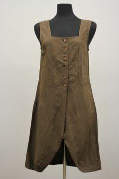 Cannisse Designs France Lagenlook Artsy Linen Sleeveless Tunic Blouse Sz MD | eBay