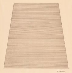 Agnes Martin (1912–2004, US),Mountain, 1960. Ink and pencil on paper, 24 x 30.2 cm. Museum of Modern Art, New York. © Estate of Agnes Martin / Artists Rights Society (ARS), New York. (MOMA-P1490mtars)