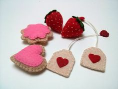 Felt food set small tea party by DusiCrafts on Etsy, €15.00