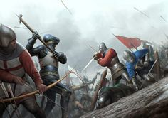 Another centerfold piece for Medieval Warfare Magazine. One of the most well known and often studied, clashes of arms in the Medieval period, the Battle. Battle of Agincourt Medieval Knight, Medieval Armor, Medieval Fantasy, Armadura Medieval, Fantasy Battle, Fantasy Art, Larp, Valhalla, Battle Of Agincourt