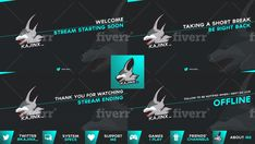 Design professional custom twitch package and stream overlay by Vinsoar