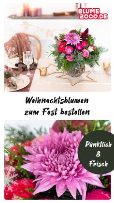 Entdecke die aktuelle Weihnachtskollektion von Blume2000! Versende zauberhafte Blumensträuße, wähle die passende Grußkarte aus und bereite Freude bei Deinen Liebsten. Christmas Flowers, Christmas Mood, Table Decorations, Home Decor, Bathroom Remodeling, Festivus, Xmas, Remodels, I Like You
