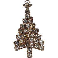 Anthony Attruia Signed Floating Stars Christmas Tree Pin