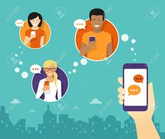 47326055-Human-hand-hold-a-smartphone-and-sending-messages-to-friends-via-messenger-app-Flat-illustration-Stock-Vector.jpg (1300×1100)