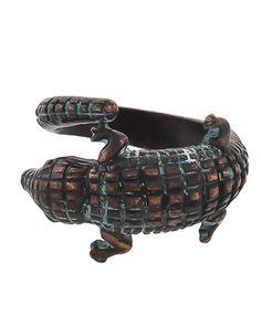 Patina / Lead&nickel Compliant / Metal / Adjustable / Animal / Alligator Ring