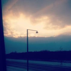 From author  Location: In the metro, Ørestad - Denmark  Situation: The Sun is setting.