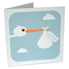 Stork New Baby Card - new baby cards