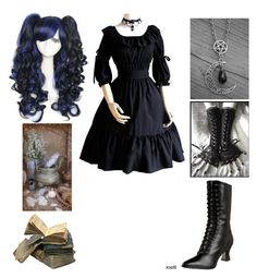 """""""Lucy - Random Black Butler OC"""" by shadow-cheshire ❤ liked on Polyvore featuring Funtasma and CO"""