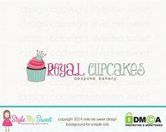 Premade Logo Design  Cupcake Logo Crown Logo by stylemesweetdesign