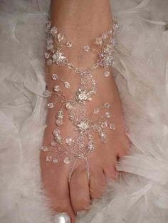 Love My Weddings: Foot Jewelry for a Beach Wedding