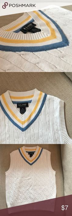 Boys E-Land sweater vest. Boys sweater vest. Super cute in good condition and looks practically new. E-Land Kids Shirts & Tops Sweaters