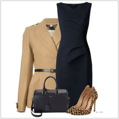 CHATA'S DAILY TIP: Neutral tones like stone and navy will always look elegant; perfect for the office! Spice up your ensemble by adding an interesting printed shoe. COPY CREDIT: Chata Romano Image Consultant, Marlise du Plessis http://chataromano.com/consultant/marlise-duplessis/  IMAGE CREDIT: Pinterest #chataromano #imageconsultant #colour #style #fashion