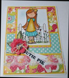 Sweet Cutie Pie Little Girl Blank Note by LoveInBloomCreations, $3.00