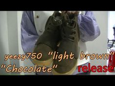 fbd62b09748 Adidas Yeezy Boost 750 Chocolate light brown+l on feet review from sneak.