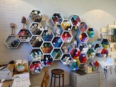 I am allllllll about the hexagons for my yarn storage!!! August at Eternal Maker - verykerryberry