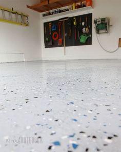 diy garage floor tutorial rocksolid polycuramine, diy, flooring, garages, how to, painting