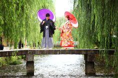 和装前撮りプラン「京都好日」。四季折々美しい京都のロケーションで結婚前撮りを。上質でお得、ここにしかない「前撮り」をご提案しています。