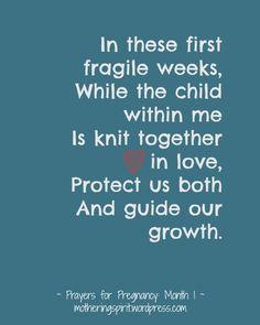 Prayers for Pregnancy | Mothering Spirit - Month 1
