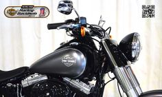2014 HARLEY-DAVIDSON FLS in CHARCOAL SATIN/BLACK DENIM At Auckland Motorcycles & Power Sports,  New Zealand www.amps.co.nz