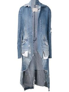 Greg Lauren - Blue The 501 Dickens Jacket Estilo Jeans, Denim Ideas, Denim Outfits, Recycled Denim, Denim Coat, Denim Fashion, Distressed Denim, Jackets For Women, Clothes