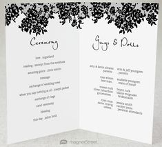 Wedding Program Design Ideas To Guide Your Wedding Guests