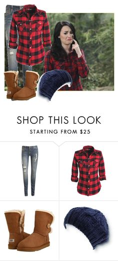"""Demi Lovato in Sonny With A Chance Goes Camping"" by pg235alexrebelgirl ❤ liked on Polyvore featuring Wet Seal, UGG Australia and Quiksilver"