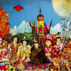 Rolling Stones - At Their Satanic Majesties Request Released December 8, 1967 by Decca Records in the UK and the following day in the US by London Records. The LP reached #3 in the UK and #2 in the US (easily going gold), but its commercial performance declined rapidly. It was soon viewed as a pretentious, poorly conceived attempt to outdo The Beatles and Sgt. Pepper's Lonely Hearts Club Band (released in June 1967).
