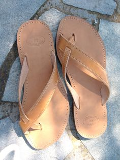 Handmade Unisex leather sandals by BlueDrop on Etsy, $39.00
