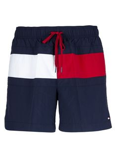 Tommy Hilfiger Short Color Block In Blu Urban Outfits, Casual Outfits, T Shorts, Swim Shorts, Beach Costume, Mens Cotton Shorts, Mens Outdoor Clothing, Men's Leather Jacket, Tommy Hilfiger Shorts