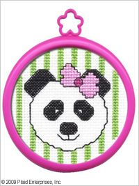 Bucilla ® My 1st Stitch™ - Counted Cross Stitch Kits - Mini - Panda. Ideal for beginners. Included are easy to learn instructions with how-to steps showing you how its done. #plaid crafts #crafts #knitting
